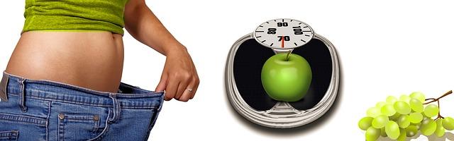 váha s jablkem