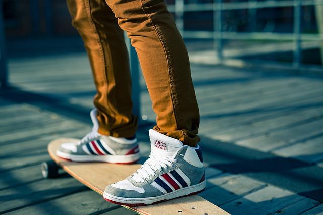 sportovní obuv na skateboard